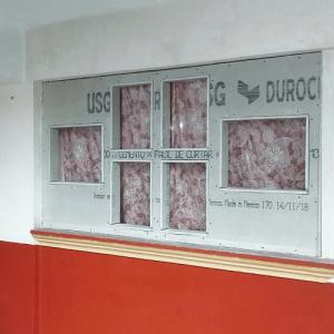 USG DUROCK® como componente para crear una decoración en exteriores